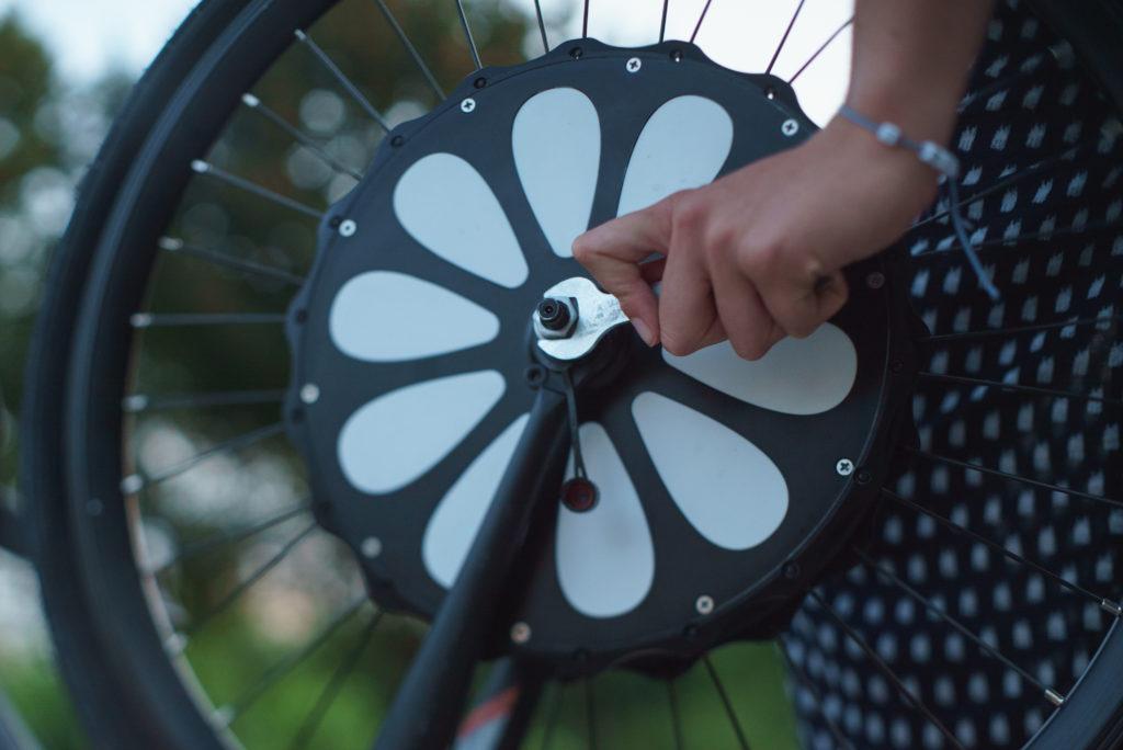 installation de la roue teebike