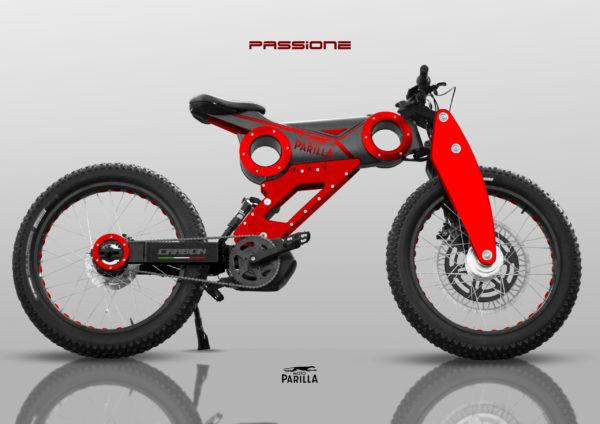 VTT électrique Moto Parilla Carbon modèle Passione