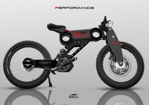 Moto Parilla modèle Carbon Performance